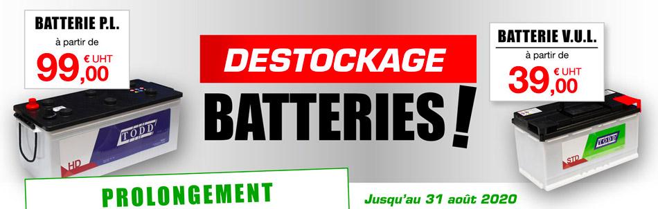 PROLONGEMENT : promotion batteries 12V camions, véhicules légers et utilitaires, bateaux, agricole, etc