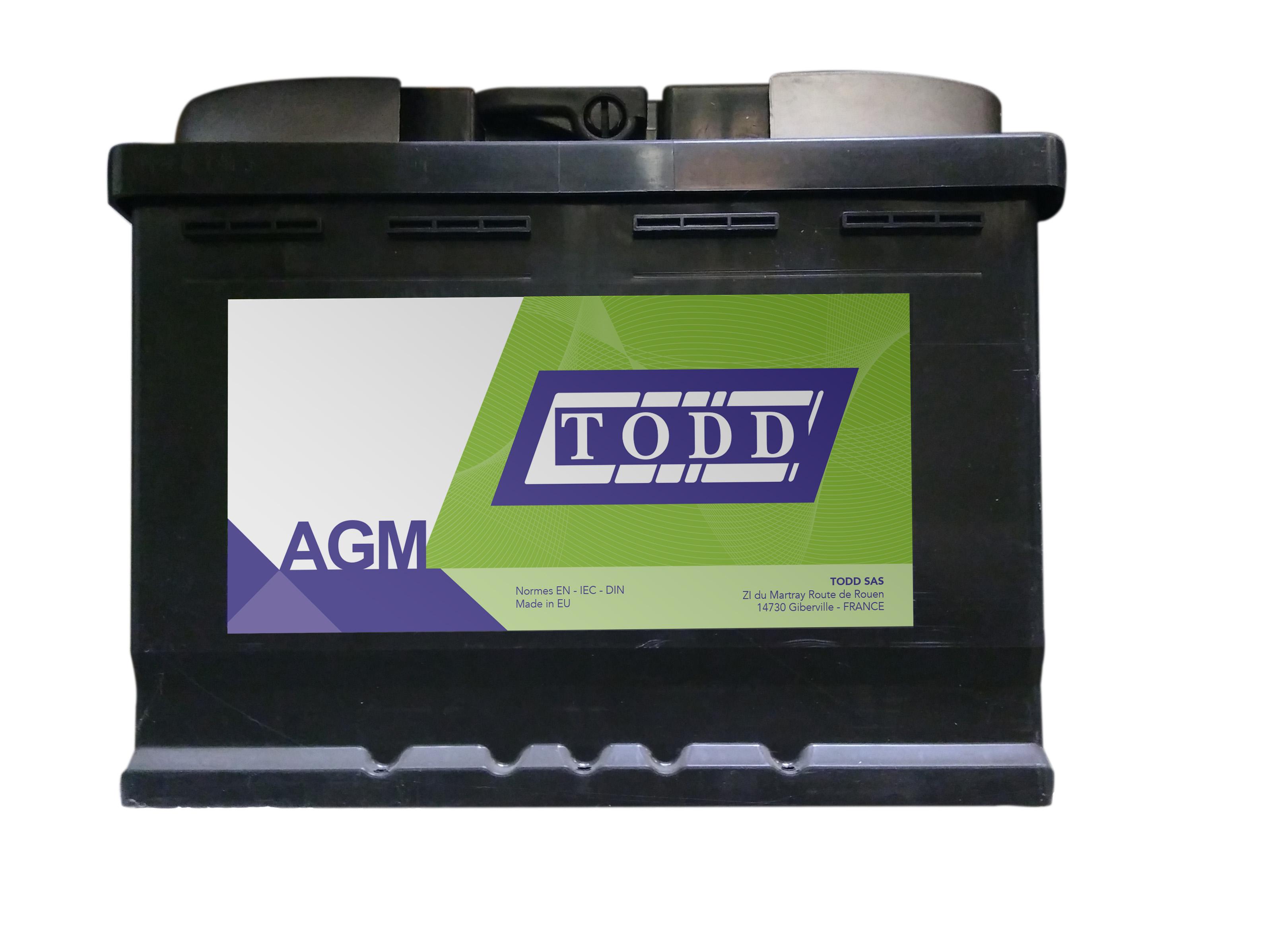 batterie 12v 70ah 760a agm start stop sans entretien pour v hicules utilitaires et v hicules. Black Bedroom Furniture Sets. Home Design Ideas