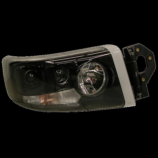 projecteur principal droit noir lampes h7 h1 pour renault premium 2 todd chrono pi ces et. Black Bedroom Furniture Sets. Home Design Ideas