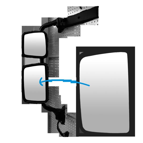 glace r troviseur principal gauche droit pour kerax midlum premium 2 todd chrono pi ces et. Black Bedroom Furniture Sets. Home Design Ideas