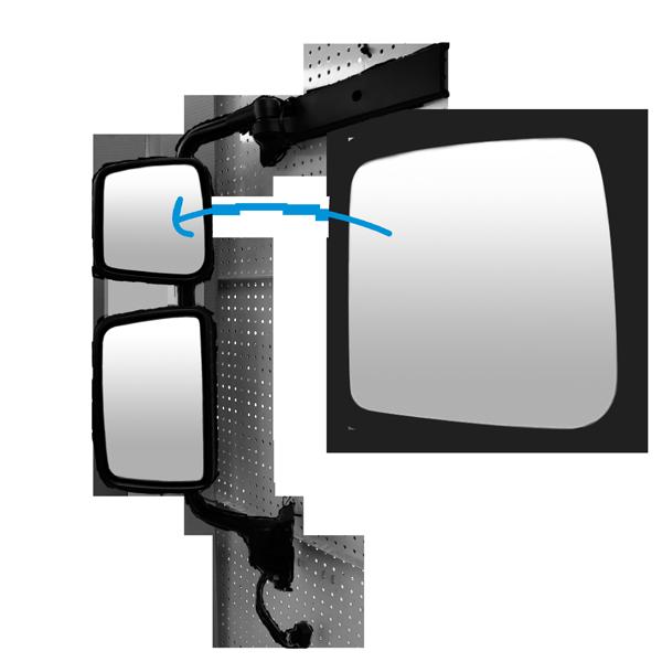 glace r troviseur grand angle gauche pour kerax midlum premium 2 todd chrono pi ces et. Black Bedroom Furniture Sets. Home Design Ideas
