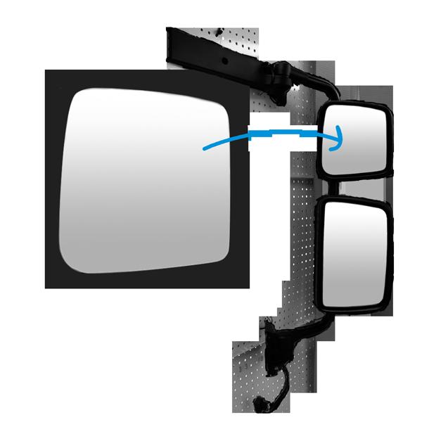 glace r troviseur grand angle droit pour kerax midlum premium 2 todd chrono pi ces et. Black Bedroom Furniture Sets. Home Design Ideas