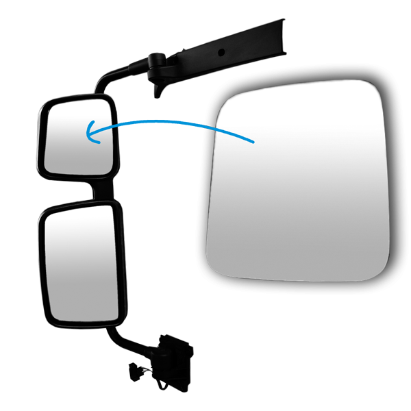 glace r troviseur grand angle gauche 203x189mm pour renault premium 2 todd chrono pi ces et. Black Bedroom Furniture Sets. Home Design Ideas