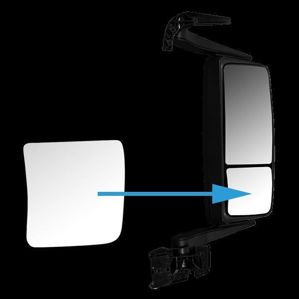 glace de r troviseur droit grand angle d givrante pour. Black Bedroom Furniture Sets. Home Design Ideas