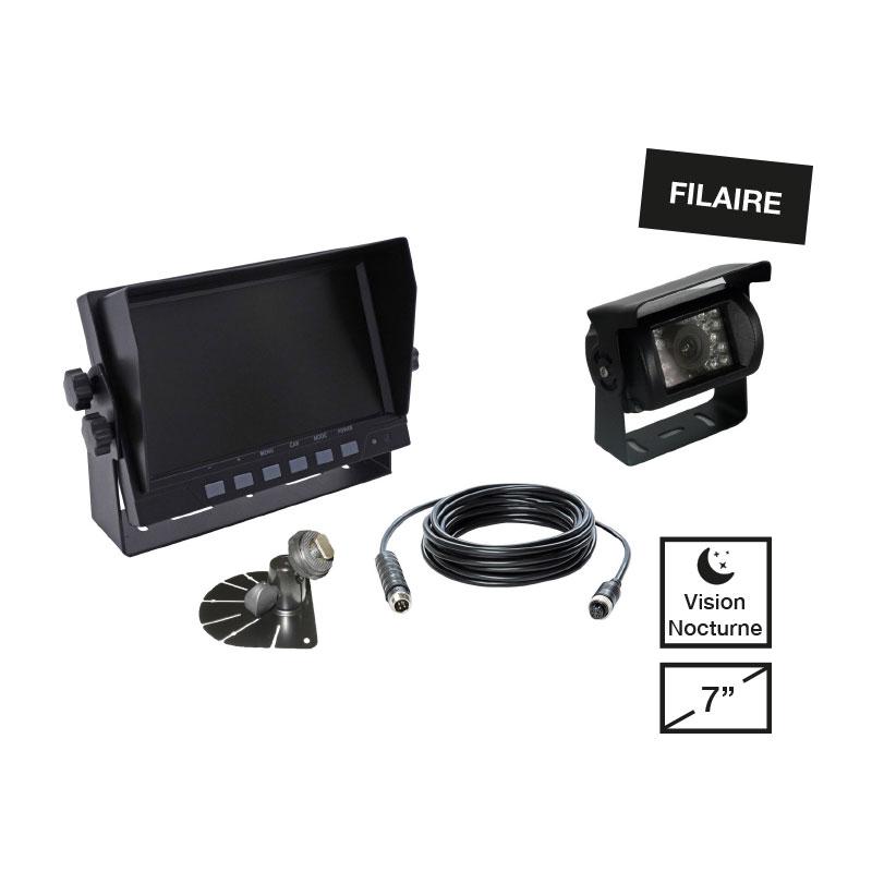 kit cam ra de recul filaire 1 moniteur 1 cam ra 1 c ble 2 supports todd chrono. Black Bedroom Furniture Sets. Home Design Ideas