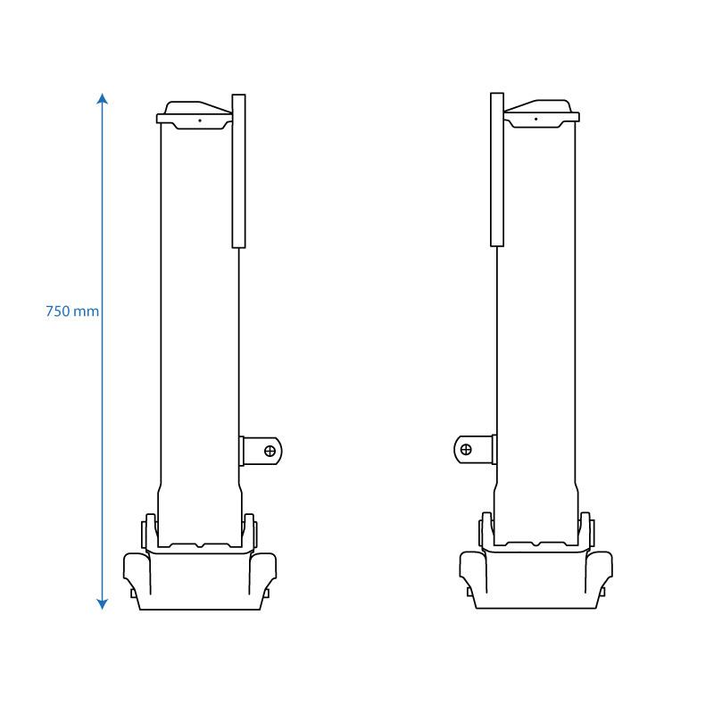 B Blesiya Support de Boule en Aluminium avec Plaque de Base pour T/él/éphone Portable 1inch
