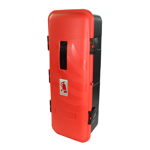 coffre pour extincteur 9 12 kg noir porte rouge avec hublot todd chrono pi ces et. Black Bedroom Furniture Sets. Home Design Ideas