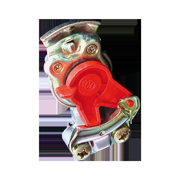 Tête d'accouplement rouge pour remorque avec joint M16x1.5