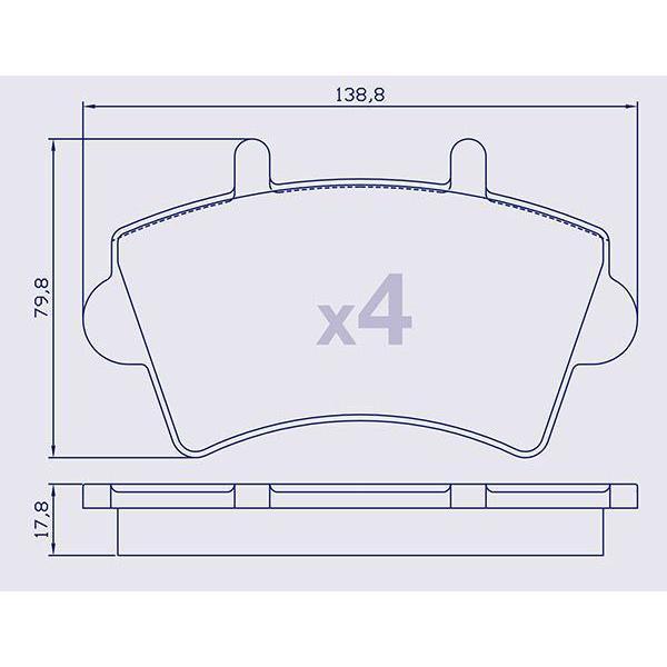 4 Plaquettes de frein avant pour NISSAN / OPEL / RENAULT - 7701207339
