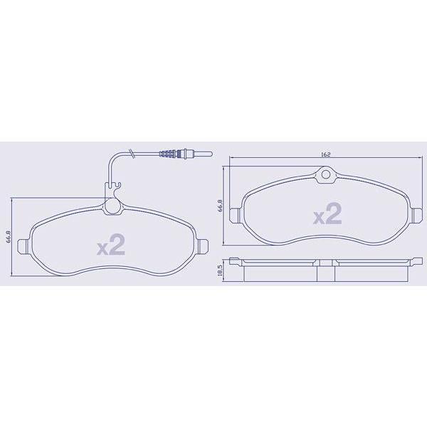 4 Plaquettes de frein avant pour CITROEN / FIAT / PEUGEOT
