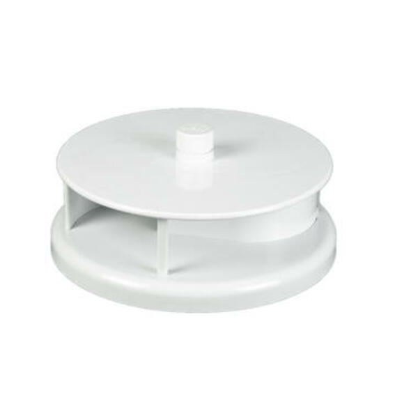 Aérateur rotatif, ABS blanc. Débit d'air 80 m3 / h à 50 km/h, Débit d'air 168 m3 / h à 100 km/h