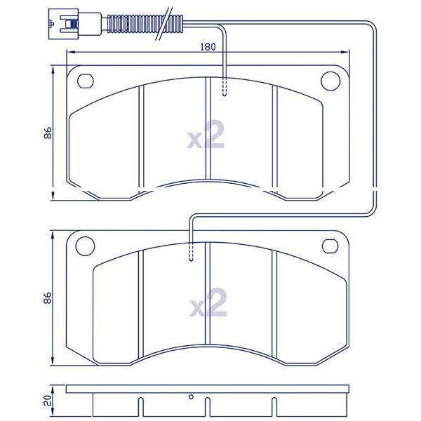 4 Plaquettes de frein AVANT pour RENAULT S/M SERIES MIDLINER à partir de 1995