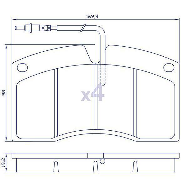 4 plaquettes de frein pour renault r bus todd chrono pi ces et services pour tous vos v hicules. Black Bedroom Furniture Sets. Home Design Ideas