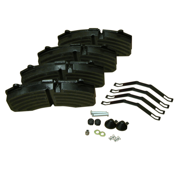4 plaquettes de frein pour remorque, tracteur, SR, étrier Knorr D430 - WVA29108