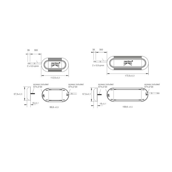 Plafonnier sans contact 700 Lumens -  INPOINT III - ADR - Homologation EMC