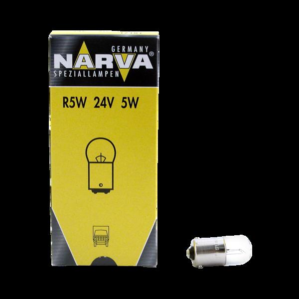 Ampoule R5W 24V 5W BA15S pour véhicules poids lourds