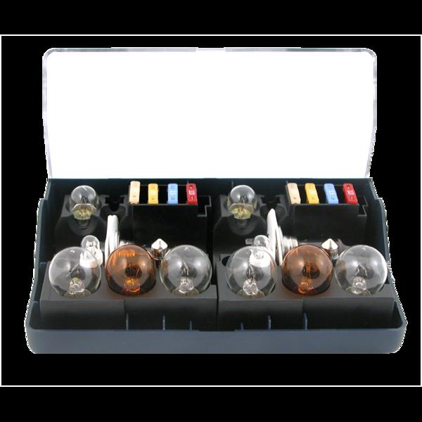 Coffret de secours 24V H7x2 (14 lampes + 8 fusibles) pour camions (PL)
