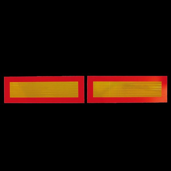 Jeu de 2 plaques de balisage arrière ECE 70-01 pour remorque PL