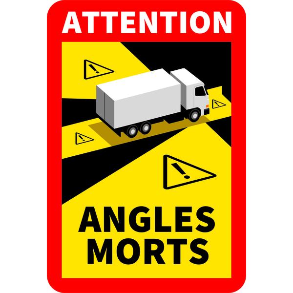 Étiquettes adhésives angles morts camion officiel, décret N° 2020-1396 autocollant 170X250mm
