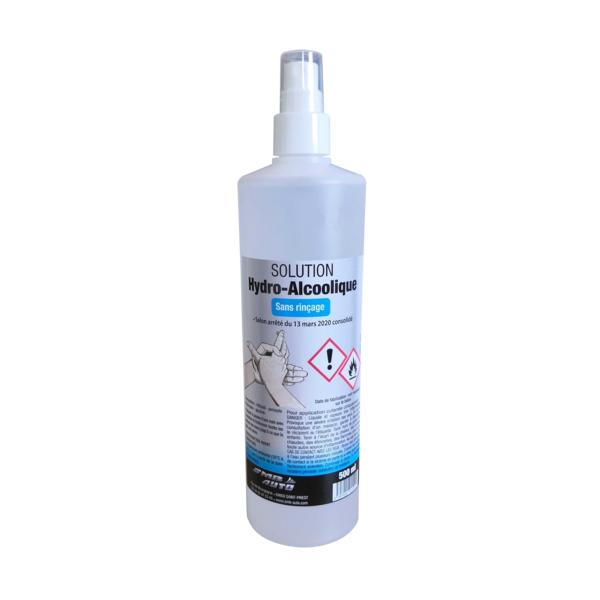 Désinfectant hydro-alcoolique pour les mains, pulvérisateur 500ml