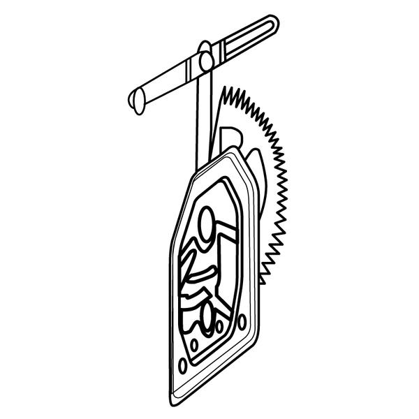 Lève-vitre manuel, droit, pour SCANIA - 1366848