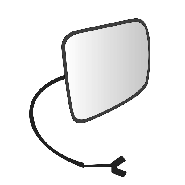 Kit glace rétroviseur grand angle gauche / droit pour VOLVO FH 2