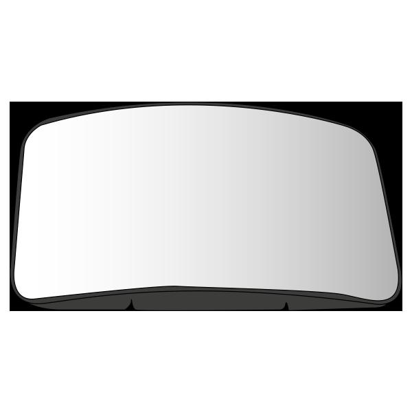 Glace rétroviseur d'accostage, dégivrante, avec fil tendeur pour IVECO