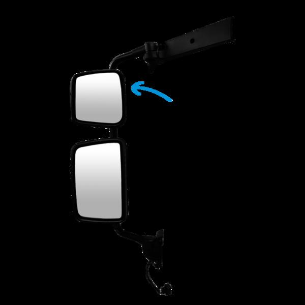 Coque noire rétroviseur gauche / droite  pour Renault Kerax, Midlum, Premium 2, Daf LF
