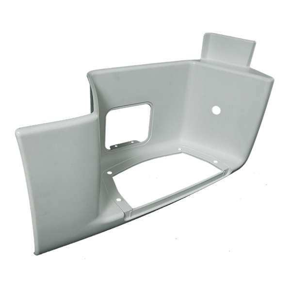 Marchepied inférieur droit blanc avec trappe pour MAN TGA XL/XXL, TGX