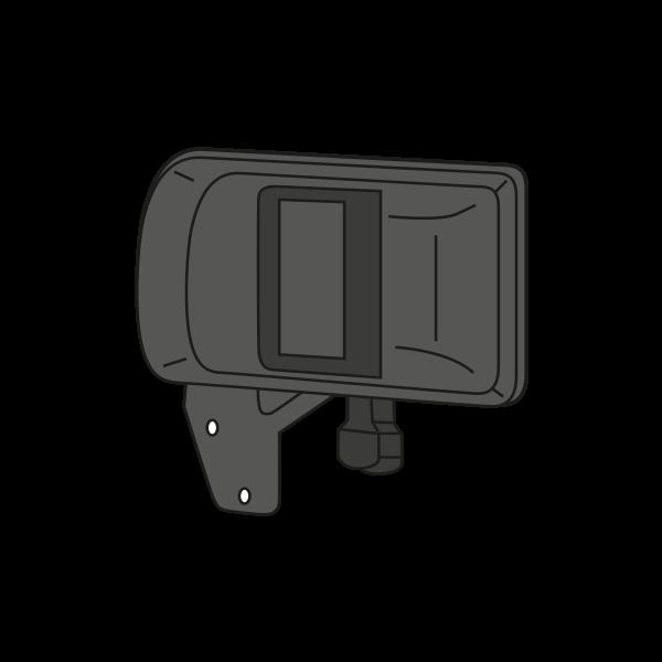 poign e de porte ext rieure pour porte lat rale. Black Bedroom Furniture Sets. Home Design Ideas