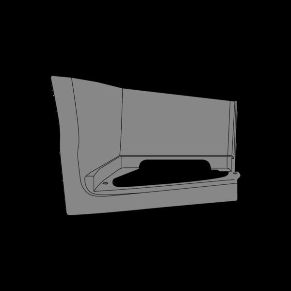 Marchepied inférieur droit gris pour VOLVO FH4