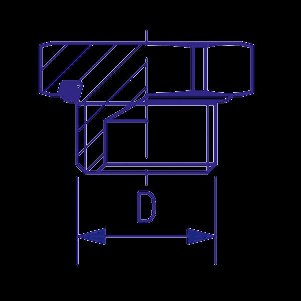 Bouchon laiton fileté M16x1,5, raccord pour circuit air comprimé PL