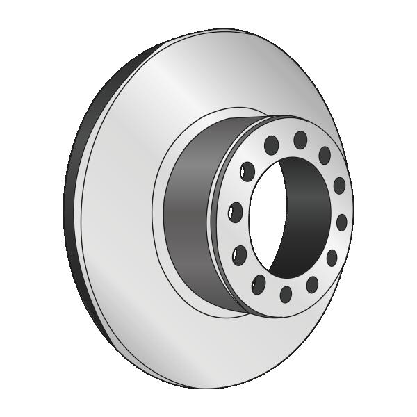Disque de frein, diam 378, pour ESSIEU ROR, avec couronne ABS, 10 trous - Ref : MBR5073 - Ref : MBR9018