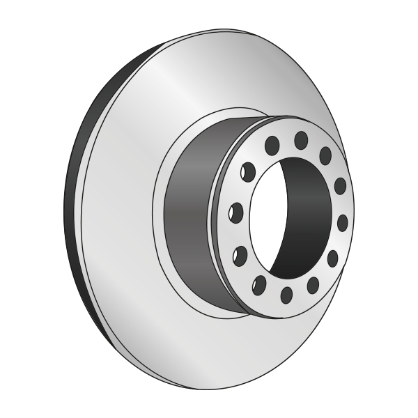 Disque de frein, diam 322, pour IVECO Eurocargo - 1908578.