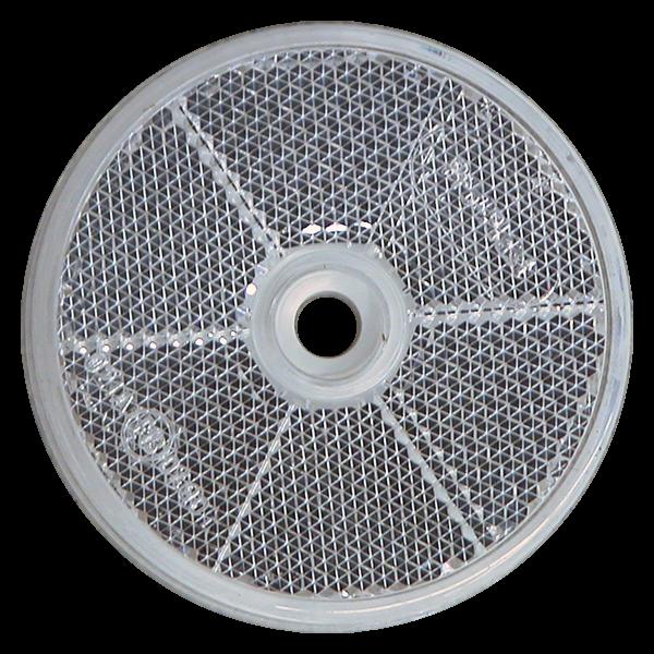 Catadioptre rond blanc a trou D60mm