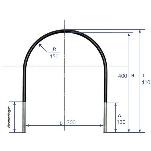 Collier pour réservoir - diam 300 mm