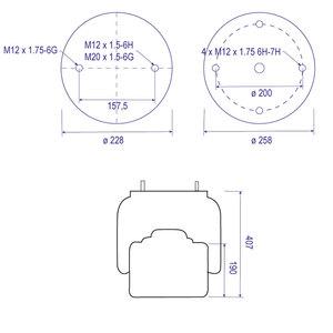 Coussin d'air 1T15M9 pour SAMRO, piston acier