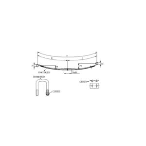 Kit de suspension renfort pour 2 lames arrière pour Renault Master, Nissan, Opel Movano