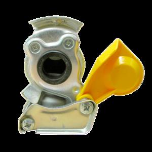 Tête d'accouplement jaune pour remorque - Ref : 1204002