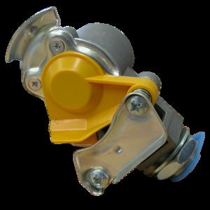 Tête d'accouplement jaune + filtre pour remorque (freinage PL)