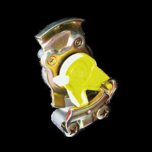 Tête d'accouplement jaune pour remorque - Ref : 12800220