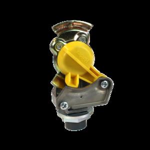 Tête d'accouplement jaune Protect-O avec filtre pour remorque
