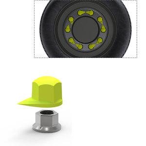 Dustite pour roue sans enjoliveur, 32mm, indicateur de desserrage