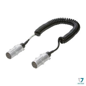 Cordon électrique extensible 7 pôles 24N, 24V, 4m, fiches métal