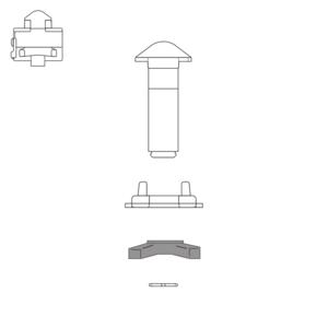Écrou pour twist-lock, type F02SK
