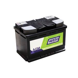 Batterie 12V 70Ah 760A AGM Start & Stop sans entretien pour VUL et véhicules légers, conseillé pour véhicules normes euro 5 et euro 6