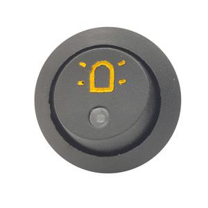 Interrupteur symbole Gyrophare, avec témoin LED orange