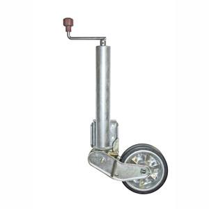 Roue jockey automatique 500kg diamètre 60 mm 200 x 50 caoutchouc