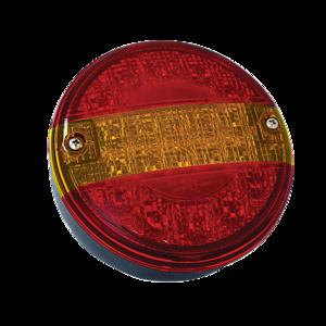 Feu arrière hamburger rond, gauche/droit, Led, 3 fonctions, 12/24v