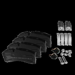 4 Plaquettes de frein pour Remorque, SAF / SCHMITZ / DISCOS - Ref : 29158009203